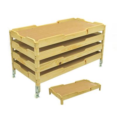 单人折叠实木单层床