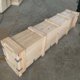 烟台招远市木箱包装箱厂家定制木质包装箱 两面进叉