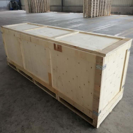 胶合板木箱厂家批发定制两面进叉木箱 山东木制品工厂生产
