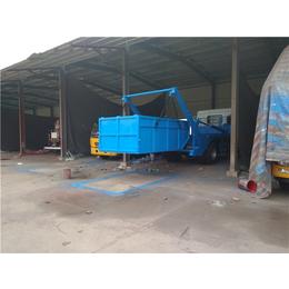 东风8吨地坑式摆臂垃圾清运车  单独配备地坑式摆臂垃圾箱