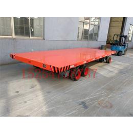 30吨厂区板车厂家直销厂内大型平板拖车实心轮胎