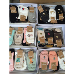 低价批发米若克袜子 外贸 正品手工缝头精梳棉米若克女袜