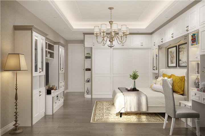 家具厂家装修现代白色衣柜