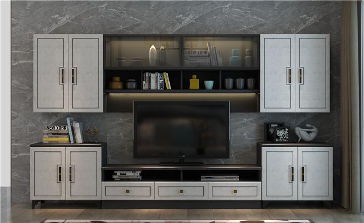 全屋定制-深色系客廳電視柜
