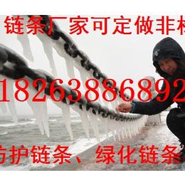 供应临沂质量好80级12mm护栏铁链条圆环形镀白锌护栏链条