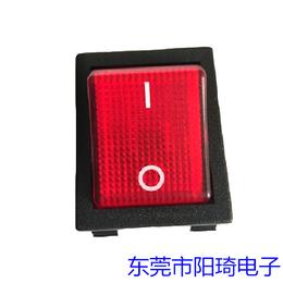 东莞厂家直销红色带灯大电流翘板开关黑色外壳开关