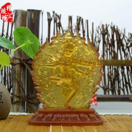 藏传佛教琉璃佛像批发 作明佛母琉璃佛像 成都西藏佛像厂家