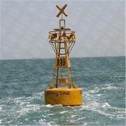 海域警示带灯挂刻字标语稳定定点航标