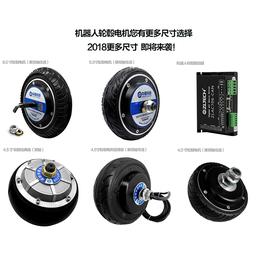 4.5寸机器人轮毂伺服电机直流24v驱动器agv小车