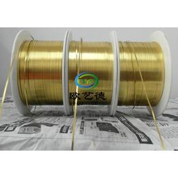 精密五金用精密CuZn33黄铜线材