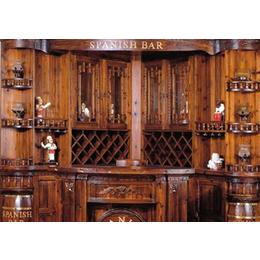 防腐木吧台 简约酒吧台转角吧台实木吧台